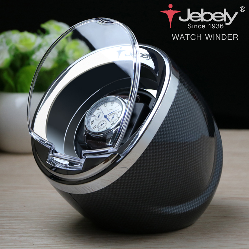 Jebely Black Single Watch Winder til automatiske ure automatisk winder Multifunktion 5 tilstande Watch Winders 1 JA003