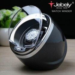 Jebely Nero Singolo Watch Winder per gli orologi automatici automatico avvolgicavo Multi-funzione 5 Modalità di Orologi ricariche 1 JA003
