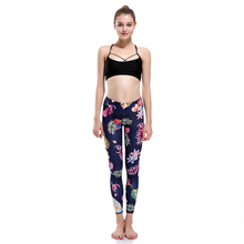 New LOVE SPARK Floral Yoga Sport Tracksuit S To 3XL Fitness Running Jogging Leggings Workout Flower Print Fitness Pants