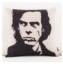 Mute Nick Cave Bad Seeds Music Emoji Throw Messager Decorative Vintage Lumbar Pillows Cover Pillow Case Home Decor Family Gift