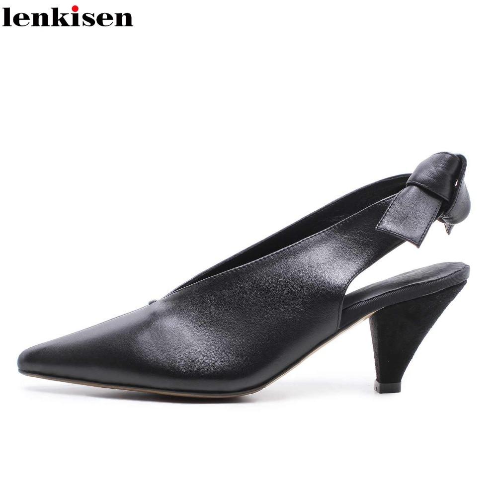 97fecea88c08 Slip Talons blanc Med Sur L80 Femmes Cuir Chaussures Pompes Vache Profonde  Sandale Pointu En Bout ...