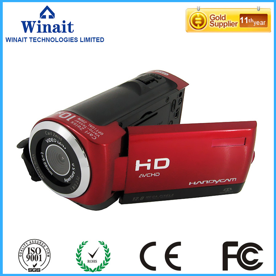 """winait 12MP digital video camera with 2.4"""" TFT display and 8x digital zoom camcorder free shipping"""