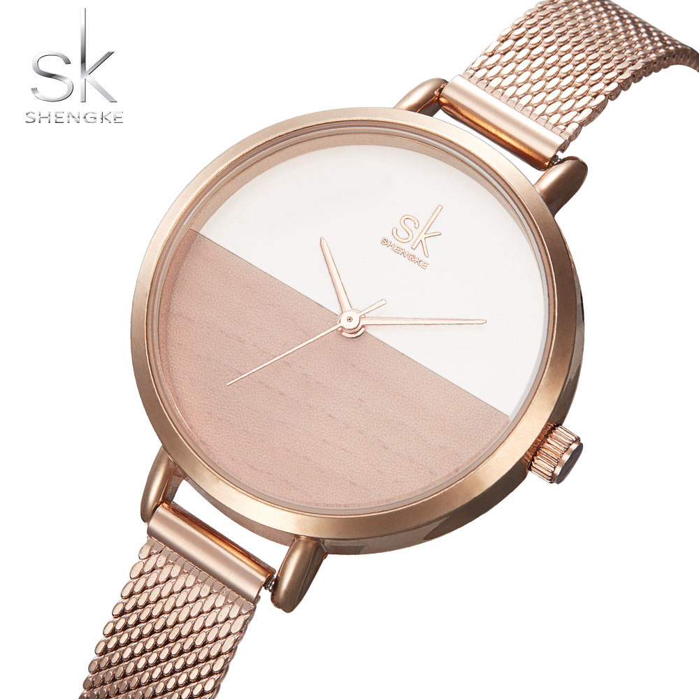Women Watches Luxury Brand Watch Rose Gold Quartz Clock Creative Wood Pattern Stainless Steel Mesh strap Ultra Thin Dial Fashion motorbike headlight cover protector for bmw r1200gs adv lc 2013 2016 2015 2014