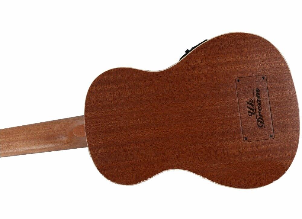 30 pouces uku Mini guitare électrique ukulélé 4 cordes basse Instruments de musique plein Sapele rétro bouton fermé Guitarra vente en gros - 5