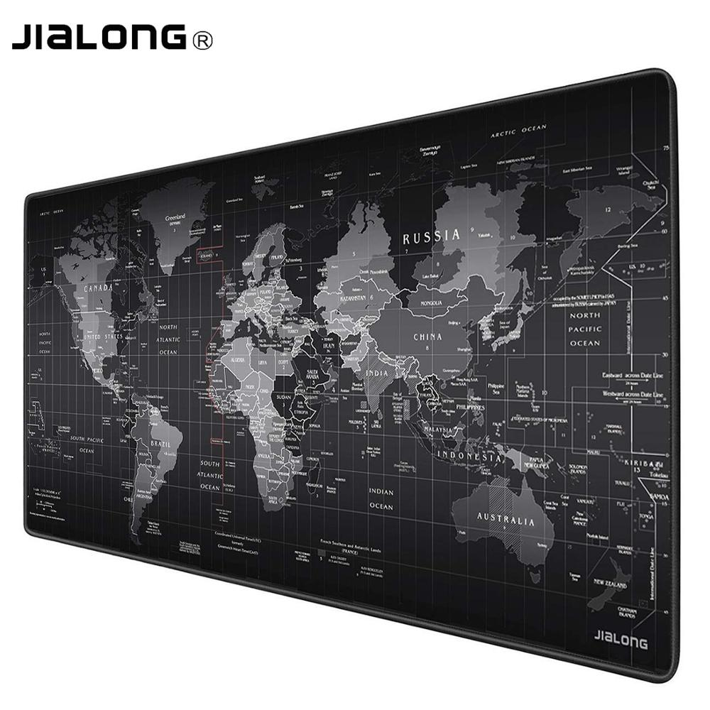 JIALONG Extra Large Mouse Pad Old World Map Gaming Mousepad Anti-slip Natural Rubber Gaming Mouse Mat with Locking Edge