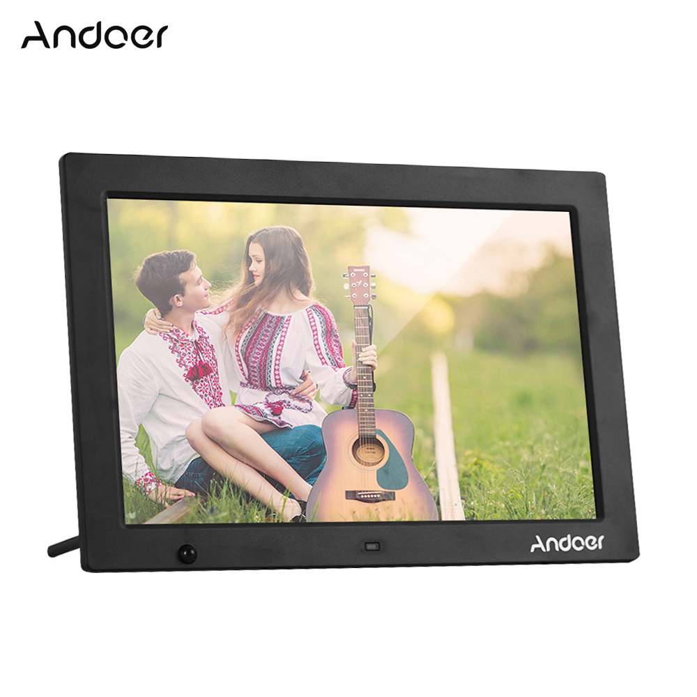Andoer Digital Photo Frame 13 3 Inch 1280 800 HD Electronic Picture Album 1080P Video Music