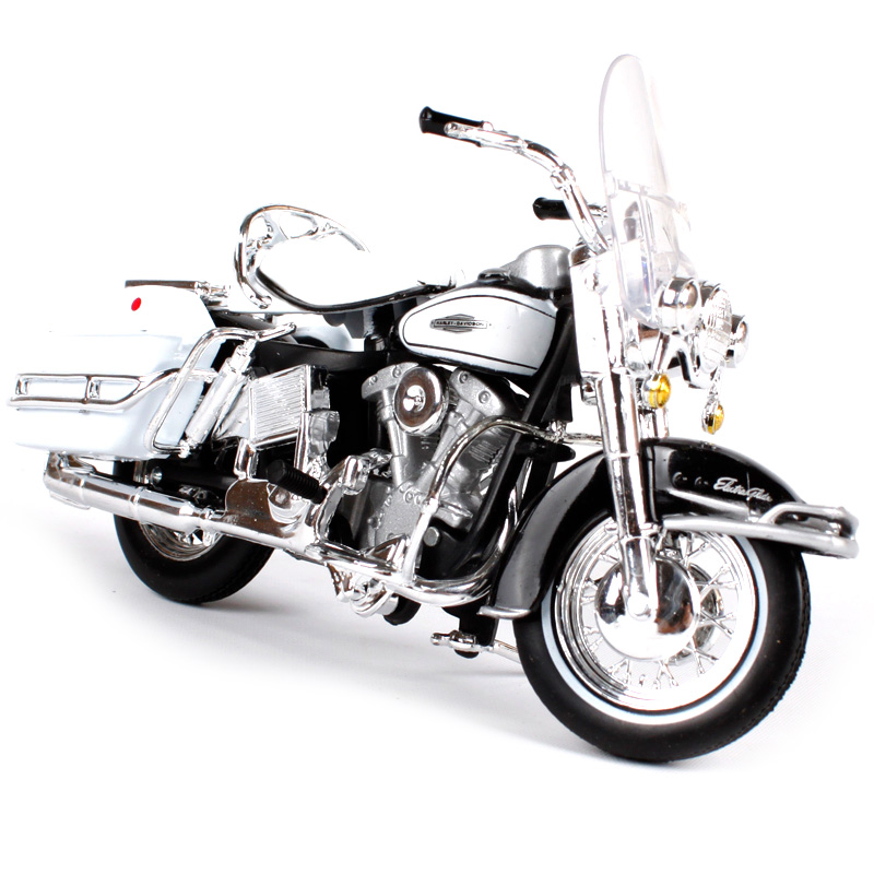 Maisto 1:18 1966 FLH ELECTRA GLIDE white motorcycle diecast classic motorbike model for young motorcycle die cast model 10142