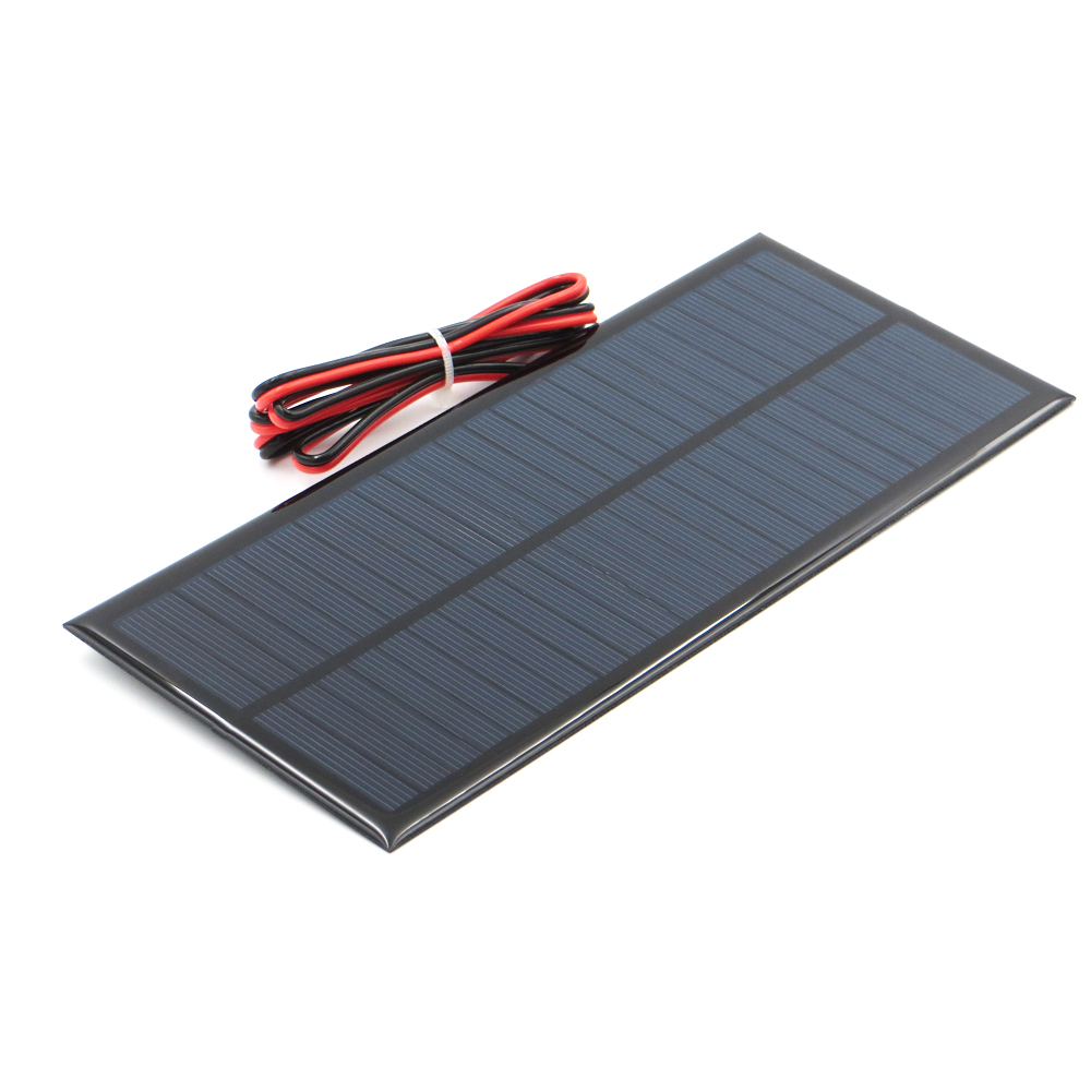 1pc x 12V 208mA with 100cm extend wire Solar Panel Polycrystalline Silicon DIY Battery Charger Small Mini Solar Cell cable toy