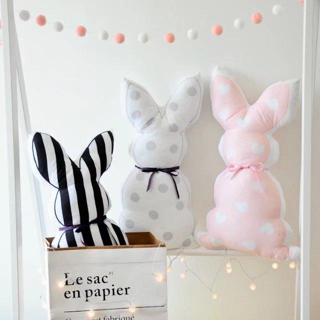US $18.0  Ins Nordic kaninchen kissen der kinderzimmer dekoration geschenk  für kinder freundin in Ins Nordic kaninchen kissen der kinderzimmer ...