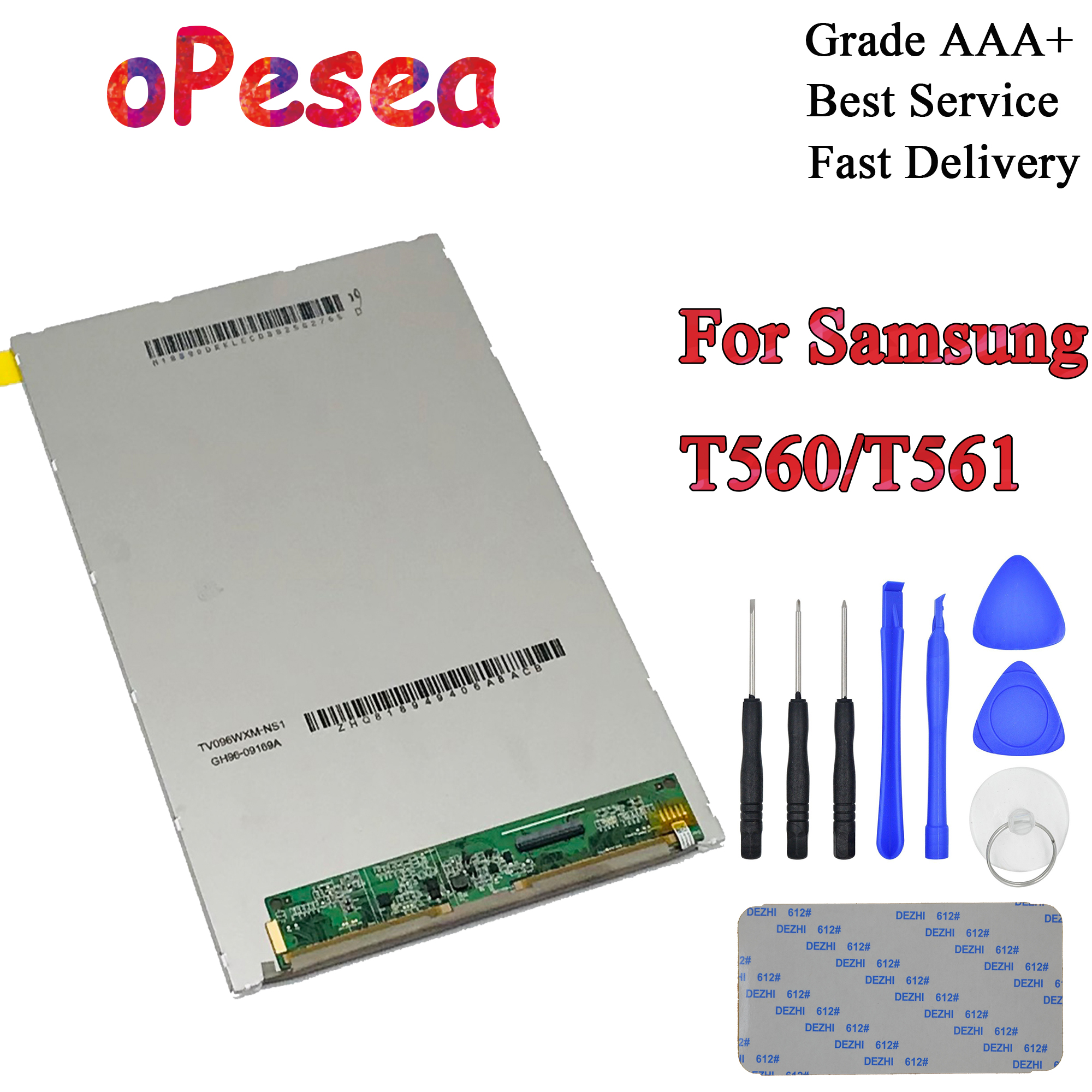OPesea For Samsung Galaxy Tab E 9.6 T560 T561 SM-T560 SM-T561 LCD Display Panel Screen Monitor Replacement Parts