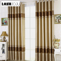 LOZUJOJU European design blackout curtains striped jacquard drops for living room windows high quality luxury curtains fabric