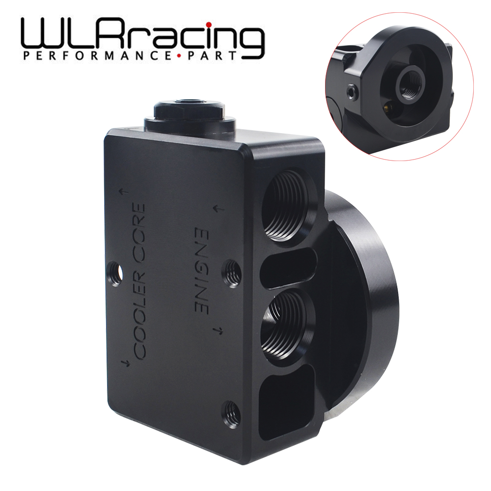 WLR RACING - Oil Filter Sandwich Adaptor For High quality Oil filter remote block with thermostat 1xAN8 4xAN10 ORB FEMALE 6744 wlring oil filter sandwich adaptor for high quality oil filter remote block with thermostat 1xan8 4xan10 orb female wlr6744