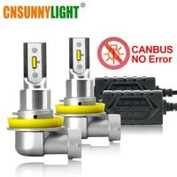 CNSUNNYLIGHT CANBUS LED H11/H8/H9 9005 9006 Car Headlight Bulbs No Error 2400Lm 3000K 6000K 8000K 24W/Pair HB3 HB4 Auto Fog lamp