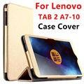 Case Для Lenovo TAB 2 A7-10 Защитные Смарт обложка Искусственной Кожи таблетки Для Lenovo TAB2 A7-10F 7 дюймов PU Protector Sleeve Case