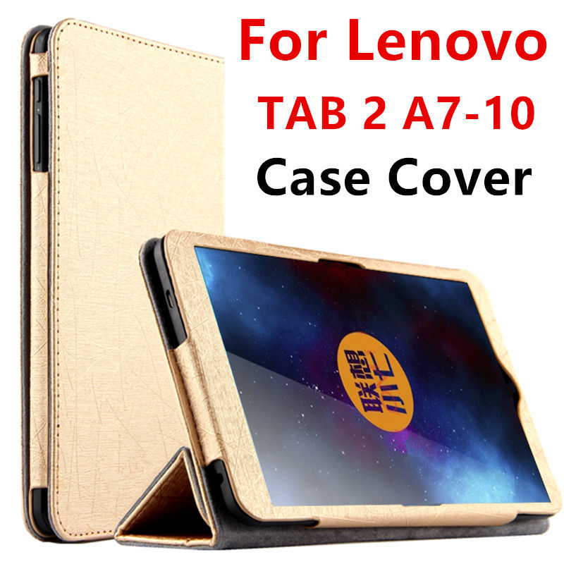 Case For <font><b>Lenovo</b></font> TAB 2 <font><b>A7</b></font>-10 Protective Smart cover Faux Leather Tablet For <font><b>Lenovo</b></font> <font><b>TAB2</b></font> <font><b>A7</b></font>-<font><b>10F</b></font> 7 inch PU Protector Sleeve Case image