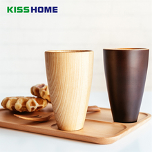Japanese Creative Fir Wooden Cup Simple Natural Hand-made Cedarwood Milk Water Couples Toothbrush