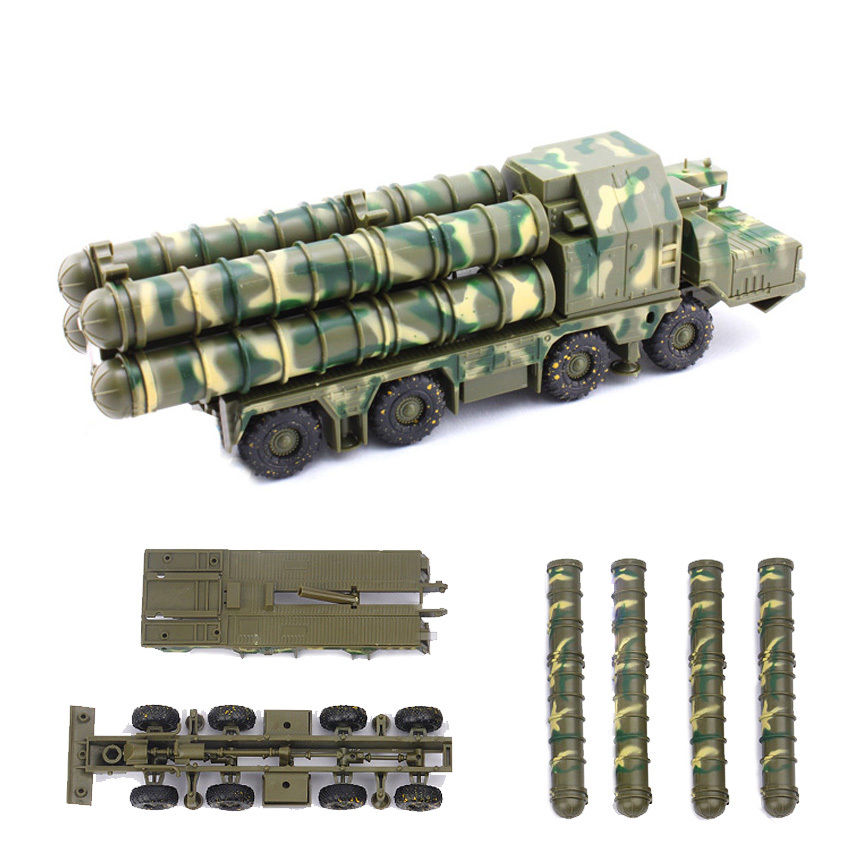 1:72 Plastic Assembled Missile Launching Toys  Ground-to-Air Missile System 5P85D 5P85S Radar Car Educational Toys DIY Model