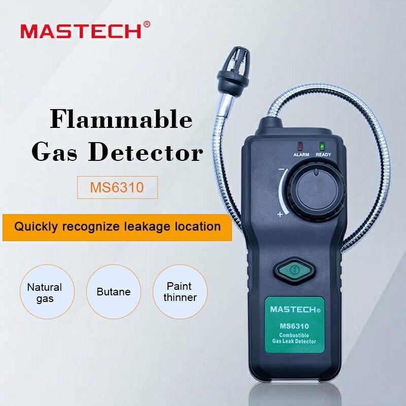 Analysatoren Messung Und Analyse Instrumente Trendmarkierung Mastech Ms6310 Tragbare Brennbaren Gas Leck Detektor Tester Meter Propan Natürliche Gas Analyzer Mit Sound Licht Alarm VerrüCkter Preis