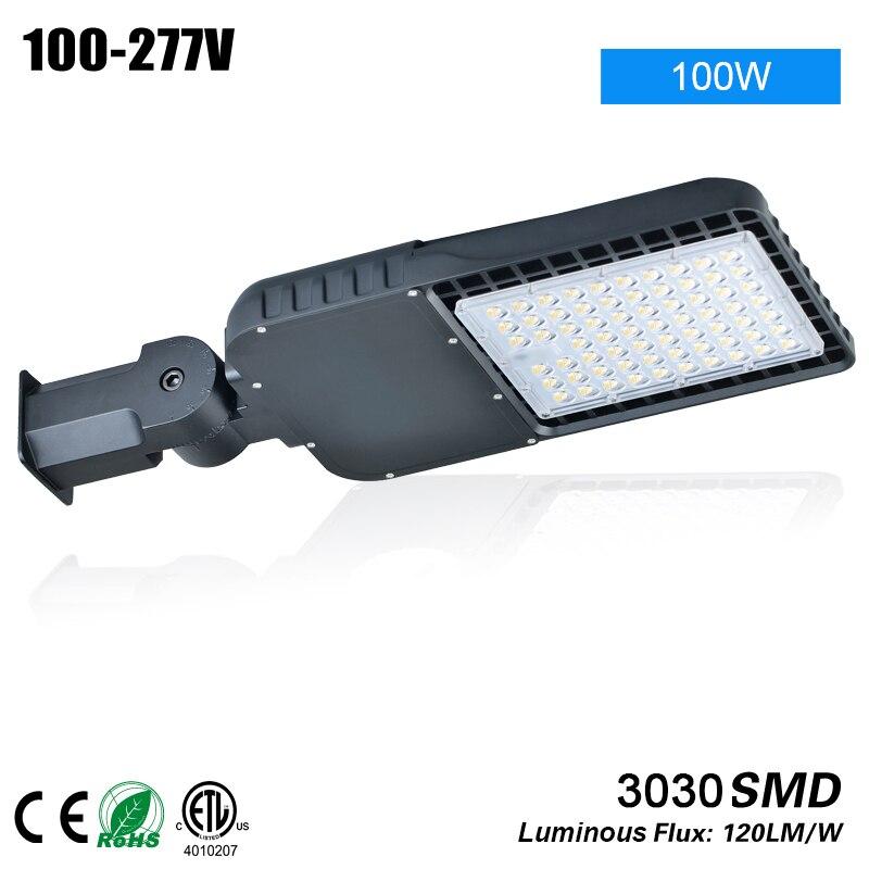 Бесплатная доставка MEANWELL 150 Вт etl ul dlc перечисленных LED Shoebox уличном фонарном 100 277VAC