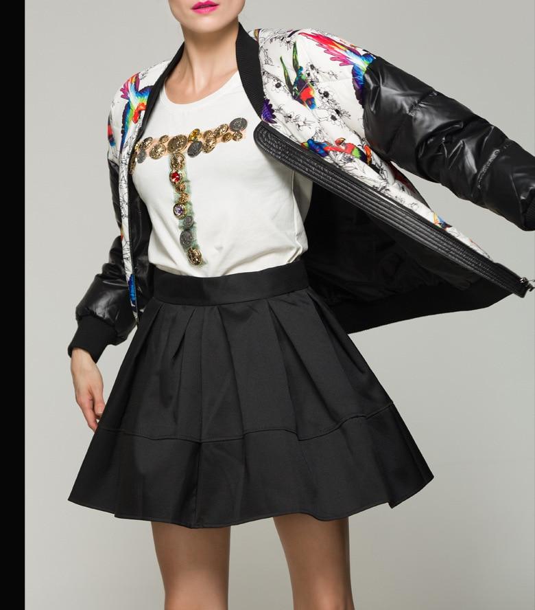 Imprimé Montant D'hiver Et Femme Mode Picture Manteau Lâche 2019 Duvet Printemps Veste De Col Doudoune Nouvelle Pour Wj1878 Canard 90 Blanc wAfTxnqC0Z
