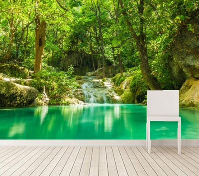 Buy custom 3d murals tropics forests for Nature wallpaper for bedroom