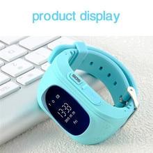 "Q50 Niños SmartWatch 0.96 ""LCD con Botón SOS LBS Posicionamiento Pantalla LCD a Color de Múltiples Idiomas para IOS Android smartwatch"