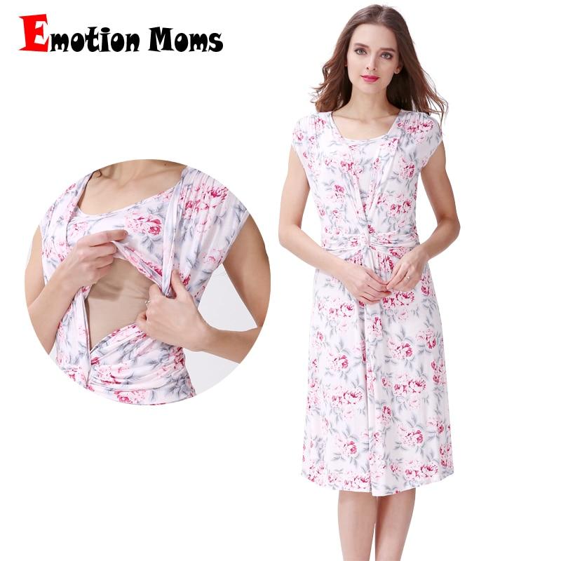 Emotion Moms Floral maternity clothes maternity dresses pregnancy clothes for Pregnant Women nursing dress Breastfeeding Dresses