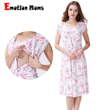 Emotion Moms Floral maternity clothes dresses pregnancy for Pregnant Women nursing dress Breastfeeding Dresses