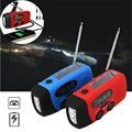 portatile portable pocket Solar Dynamo Hand Crank Powered AM/FM/WB Radio LED Flashlight Cell Phone Charger