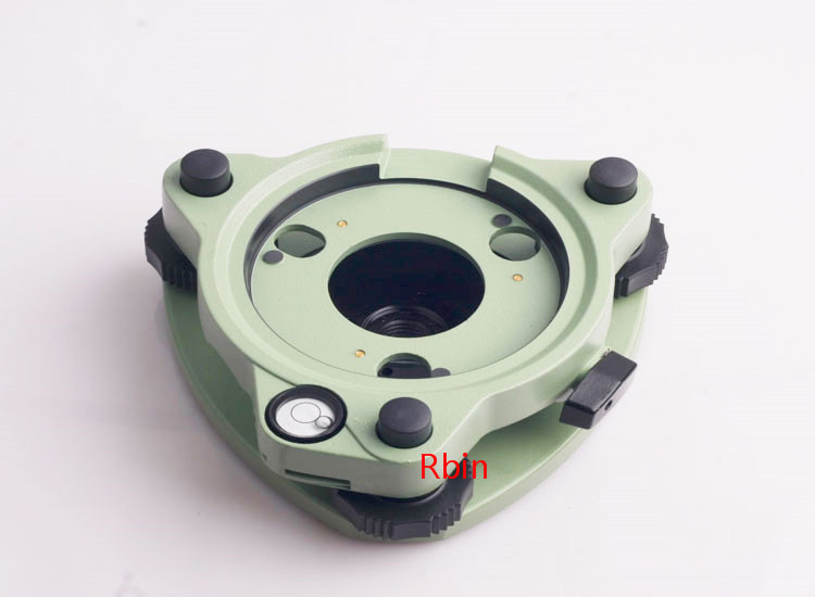 GREEN THREE-JAW TRIBRACH WITHOUT OPTICAL PLUMMET For TOTAL STATION  for sale leica green tribrach