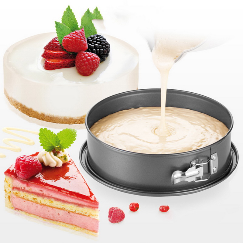 URIJK 7inch Non-stick Carbon Steel Spring Form Bakeware for Home and Bakery Use to Prepare Confectionery Recipe 1