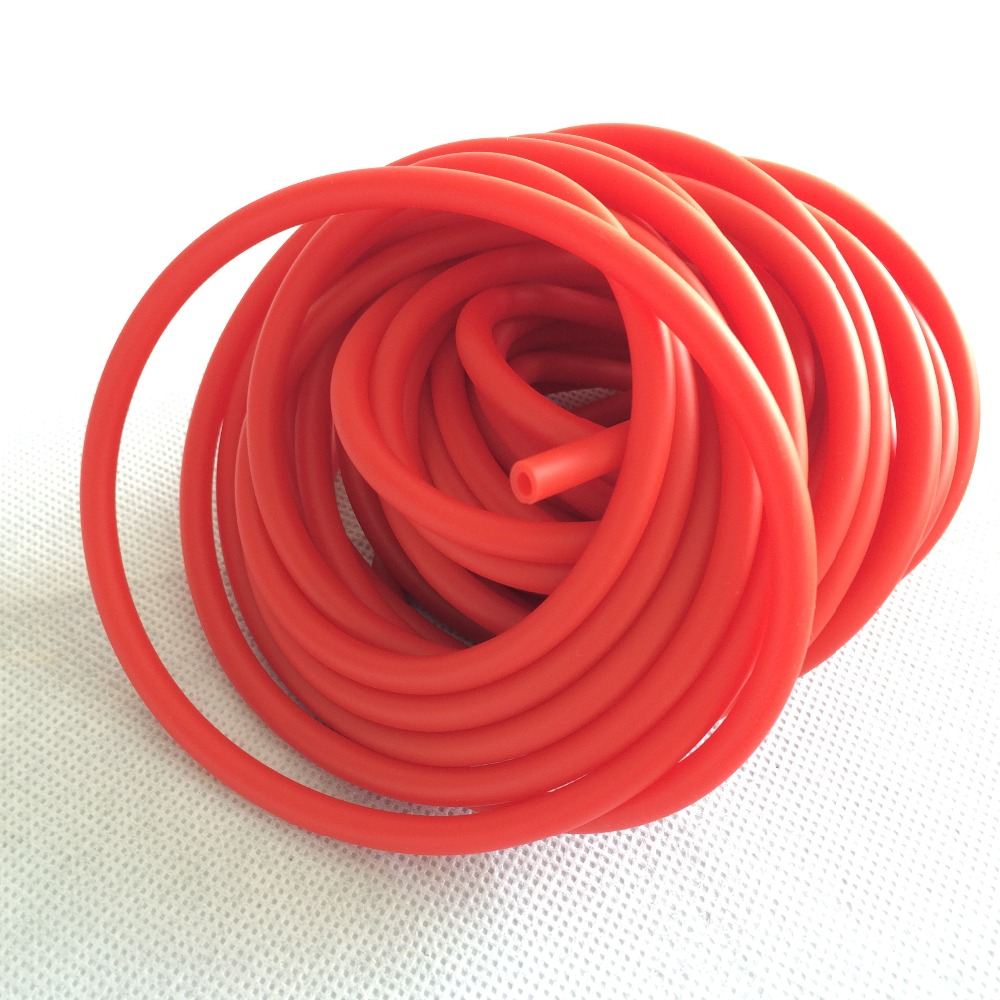 Hunting Shooting 10m 3060 Red Natural Latex Slingshots Rubber Tube Bow Catapult Rubber Band Elastic Part AH32