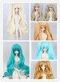 1/3 1/4 1/6 BJD doll wigs oblique bangs long hair cute tiger double ponytail hair clip