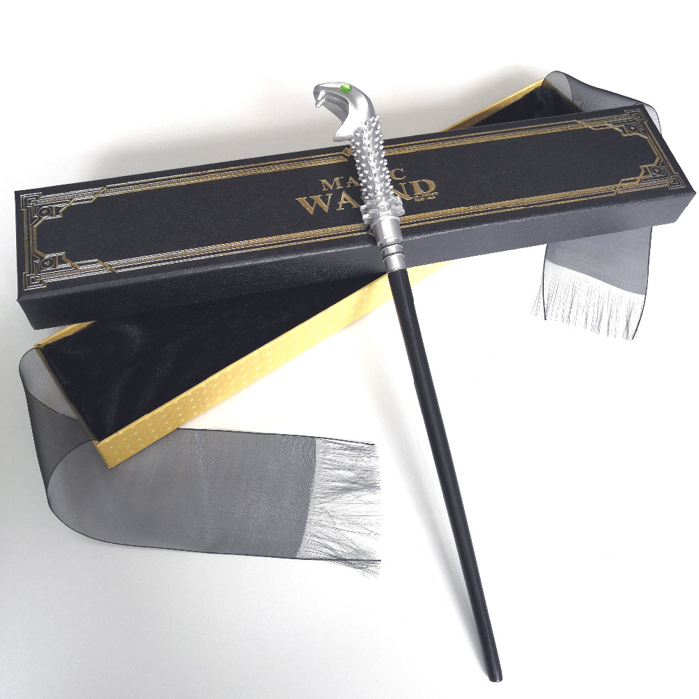 New Metal Core Lucius Malfoy Magic Wand/ HP Magical Wand/ High Quality Gift Box Packing Free Train Ticket