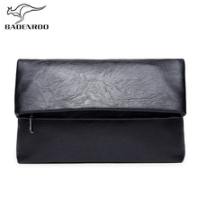 цена на Badenroo Hot Sale Men bag Simple Envelope Clutch Bag Wallet Handy Bag Brand Leather Handbags Day Clutches Male Large Purses Sac