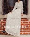 Vestido bordado, encaje blanco largo fullsleeve medieval renacimiento lace vestido de traje de princesa gótica victoriana Lo / Marie antonieta