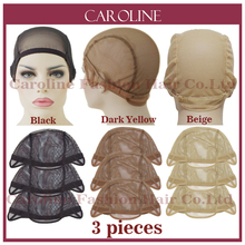 3pcs Cheap Wig Cap For Making Wigs With Adjustable Straps Weaving Caps For Women Hair Net & Hairnets Easycap Wholesale  6032S