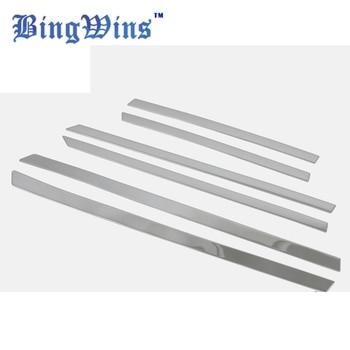 6 SZTUK Samochodów Stylizacji ABS Chrome Przedni zderzak tylny zderzak anti-przetarcia Pokrywa przycinania Ford Kuga 2013-2015 dash-proof Cekiny paski