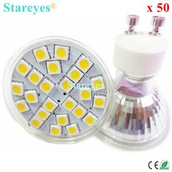 Free Shipping 50 pcs SMD 5050 24 LED 5W GU10 E27 MR16 AC110-240V / DC12V LED Spotlight bulb light droplight lamp lighting