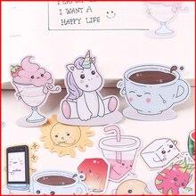 34 pcs Unicorn food personalized scrapbook Stickers scrapbooking material sticker happy planner decoration craft