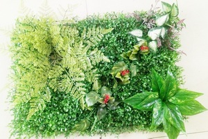 Image 2 - 60*40 cm falso artificial milão, plantas de parede, grama artificial, jardim doméstico, decoração vertical, fundo de casamento, decoração de parede
