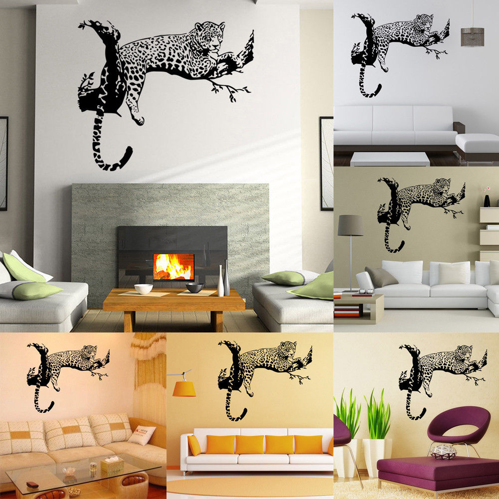 Cheetah Wall Stickers!Transfer Graphic Decal Decor Stencil