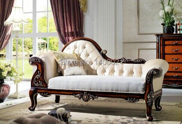 Estilo europeo clásico muebles de dormitorio antiguo Chaise longue ...
