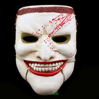 Horrible Scott Snyder Joker Resin Masks Scary Smiling Human Face Masks Halloween Masquerade Party Props With Professional Belt