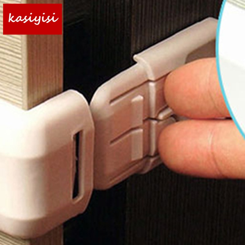 1PC Door Cabinet Cupboard Double Buckle Safety Lock Baby Kids Child Safety Protection  Infant Toddler Drawer Locks