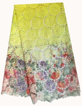 new arrival african lace fabrics high quality multi color guipure lace fabric for party dress african cord lace for wed HR26-27
