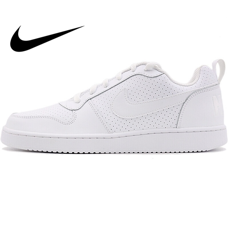 Original NIKE COURT BOROUGH LOW Men's Skateboarding Shoes SneakersOutdoor Sports Designer Athletics Official Low Top Flat 838937 сникеры nike сникеры wmns nike court borough mid