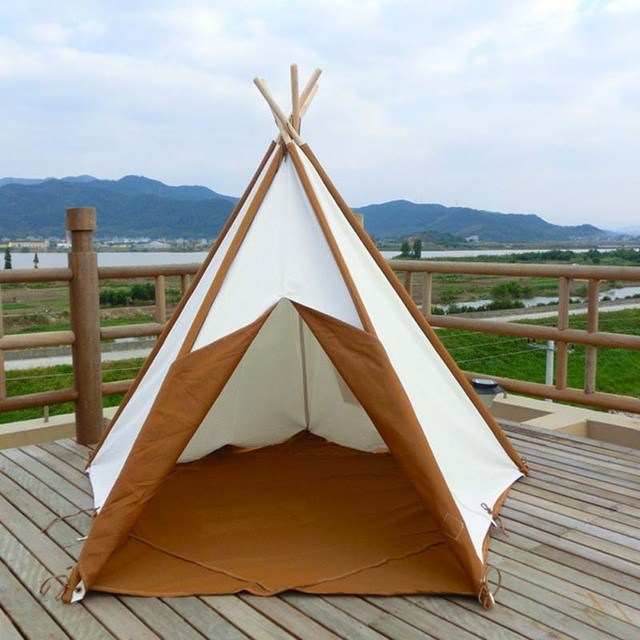 Indian style teepee childrenu0027s games tent Indoor and outdoor doll toys children tents & Indian style teepee childrenu0027s games tent Indoor and outdoor doll ...