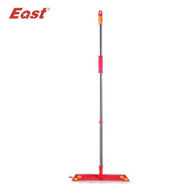 East Home Floor Kitchen Wedding Supplies Cleaning Floor Mop Red Flat  Telescopic Mop With Microfiber Cloth