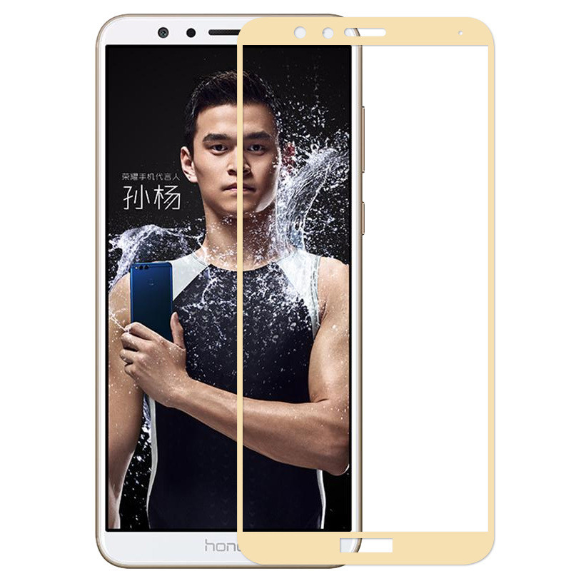 2.5D 9H For Huawei honor 7X full glass honor 7X screen protector for Huawei honor 7X play tempered glass guard flim gold 5.93